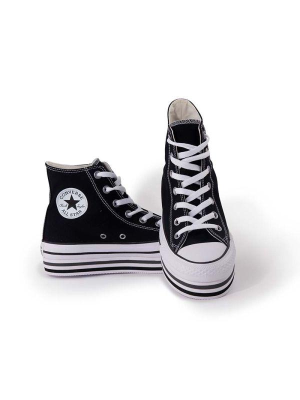 Converse Chuck Taylor All Star Platform Alte nere da Donna