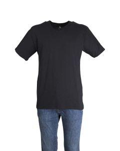 Adidas T-Shirt da Uomo Nera in Tinta Unita