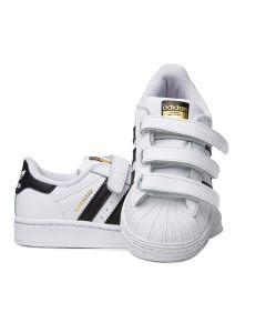 Adidas Scarpa da Bambini Superstar Bianca e Nera a Strappo