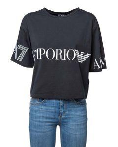 EA7 Armani T-Shirt da Donna a Maniche Corte