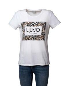 Liu Jo T-shirt da Donna a Maniche Corte con Stampe