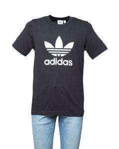 Adidas T-Shirt da Uomo Nera con Logo Trefoil