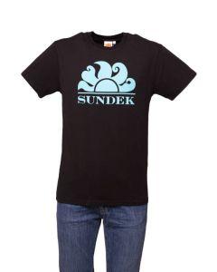 Sundek T-Shirt da Uomo con Logo a Contrasto Colore