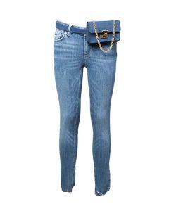 Liu Jo Jeans da Donna Skinny con Orlo Sfrangiato