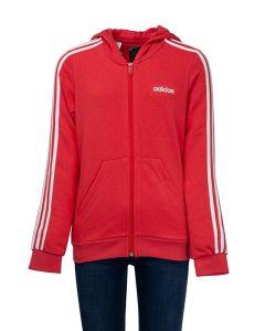 Adidas Felpa da Ragazza Essentials Rosa Cappuccio, 3 Strisce