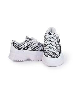 Adidas Scarpe da Donna Kiellor Bianche con Logo Allover