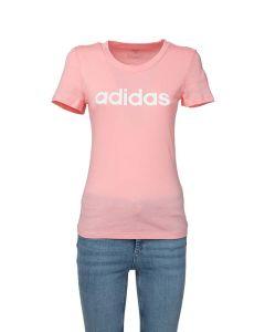 Adidas T-Shirt da Donna Essential Rosa con Logo