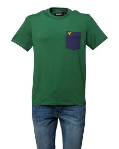 Lyle & Scott T-Shirt da Uomo con Taschino