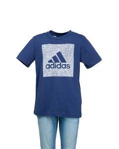 Adidas T-Shirt da Ragazzo Must Haves Blu con Logo a Riquadro