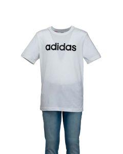 Adidas T-Shirt da Ragazzo Essentials Linear Bianca con Logo