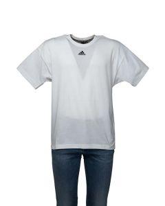 Adidas T-Shirt Uomo Must Haves 3 Strisce sul Retro Bianca