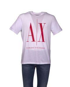 Armani Ax T-Shirt da Uomo con Maxi Logo Lettering