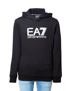 EA7 Felpa da Ragazzo con Cappuccio e Logo Big