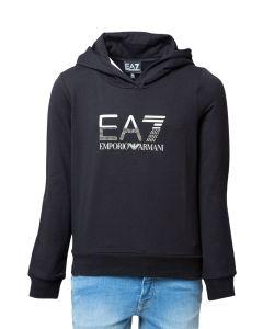 EA7 Felpa da Ragazza con Cappuccio e Logo Big