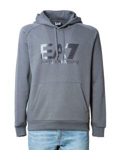 EA7 Felpa da Uomo con cappuccio e Logo Big