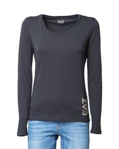 EA7 T-Shirt da Donna a Manica Lunga con Logobig
