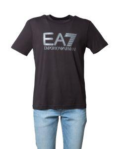 EA7 T-Shirt da Uomo a Manica Corta con Logobig
