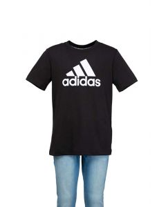 Adidas T-Shirt da Ragazzo Must Haves Nera con Logo Bianco