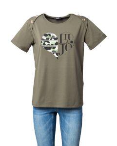Liu Jo T-Shirt da Donna con Logo in Cuore