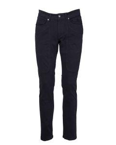 Jeckerson Pantalone da Uomo Gabardina con Toppa