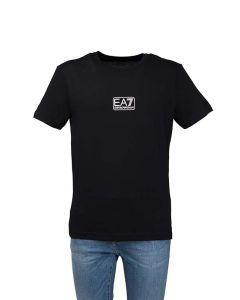 EA7 T-Shirt da Uomo con Logo Piccolo a Contrasto