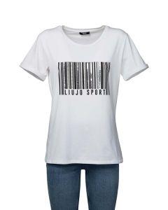 Liu Jo Sport T-Shirt da Donna, Logo in Paillettes Verticali